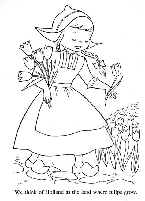 Children of Other Lands Coloring Book, 1954 – Q is for Quilter | Coloring books, Coloring pages