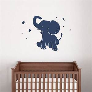 Elephant wall decals nursery ideas nursery ideas for Funny elephant wall decals for nursery