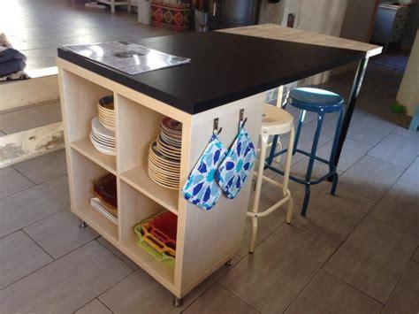 cuisine ikea avec ilot un nouvel îlot de cuisine avec kallax bidouilles ikea