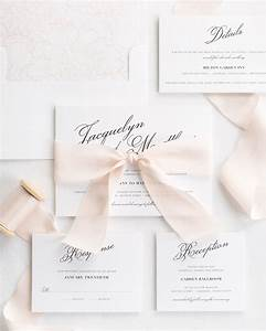 vintage romance ribbon wedding invitations ribbon With wedding invitations with photo and ribbon