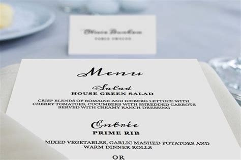 printable wedding menu template instant download 5x7