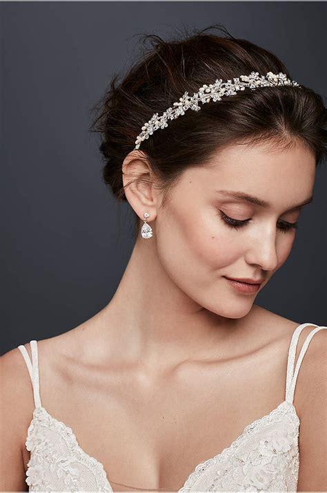 flower  bead rustic tulle headband davids bridal