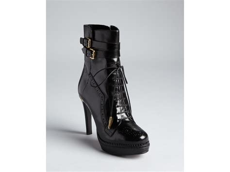 Ankle Boots : Burberry Ankle Boots Brogue Daleside Lace Up