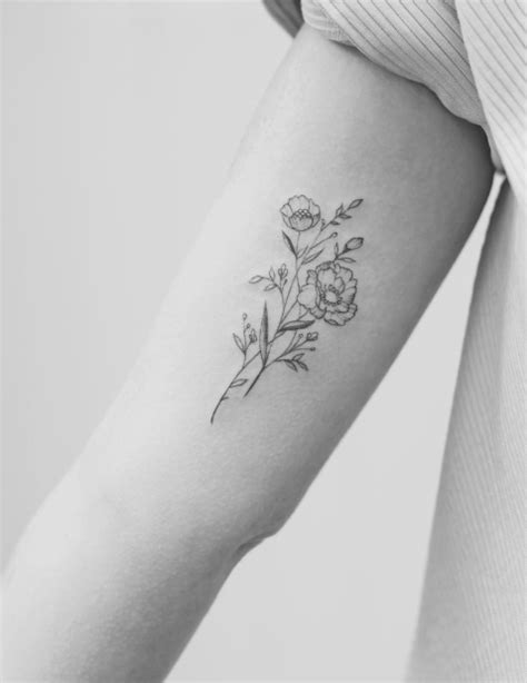 37 Cute and Meaningful Small Tattoo Designs - Page 11 of 77 | Pretty flower tattoos, Tattoos
