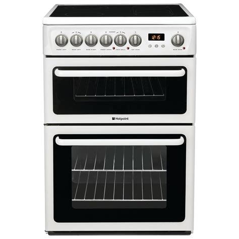 hotpoint haep freestanding cm electric cooker double oven