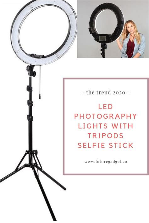 led photography lights  tripods selfie stick retail