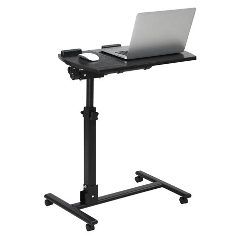 rolling laptop desk adjustable angle height adjustable laptop notebook rolling table