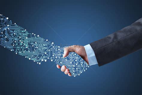 artificial intelligent handshake creative imagepicture