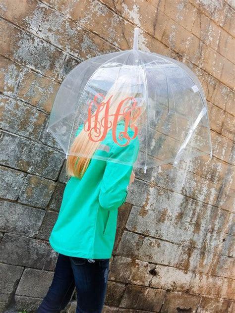 sale monogrammed umbrella clear dome umbrella  everlygrayce clear dome umbrella dome