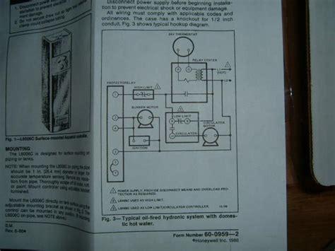 wiring honeywell 6006 aquastat to a l8148 doityourself