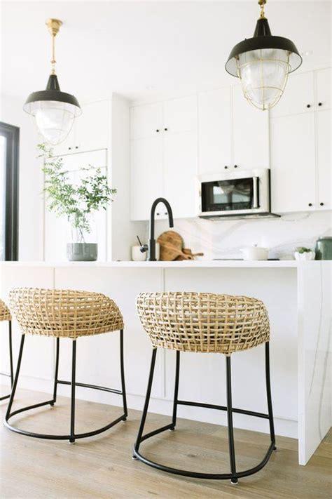 modern boho white kitchen jaclyn peters design