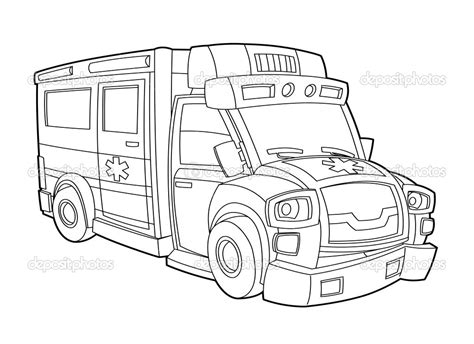 ambulance coloring pages    print