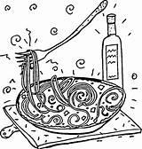 Coloring Spaghetti Italian Italy Pasta Printable Printables Cartoon Crafts Cartoons Coloringpages101 Supercoloring Animals Nature Getcolorings Popular Restaurant sketch template