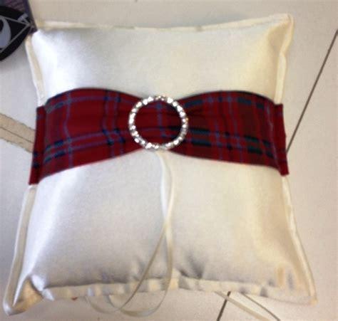 ring pillow bling tartan