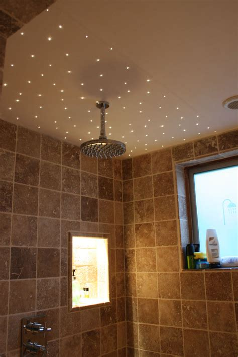 Led Lights Shower Room by Customer Project 36 Fibre Optic Points Around A