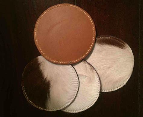 Cowhide Coasters by Cowhide Coasters Set Of 4 Hair On Hide Coasters