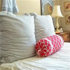 3 hour diy bolster pillow allfreesewingcom With cheap bolster pillows