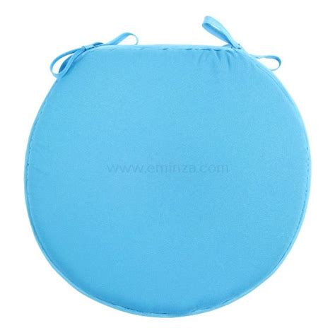 galette de chaise ronde nelson turquoise galette