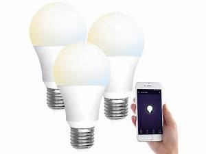 Lampen Wlan Steuerung : luminea home control 3er set wlan led lampen e27 800lm ~ Watch28wear.com Haus und Dekorationen