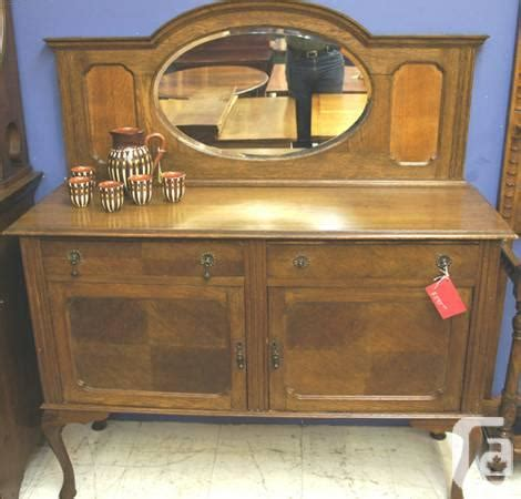 Oval Sideboard by Antique Oak Oval Mirror Back Sideboard Buffet Hutch For