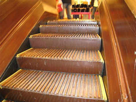 macys wooden escalators