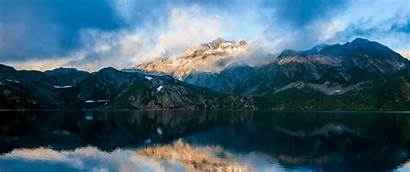 1440 3440 Mountain Wallpapers Ultrawide Reflecting Monitor