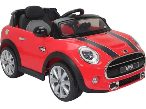kids electric ride  car red mini cooper official model