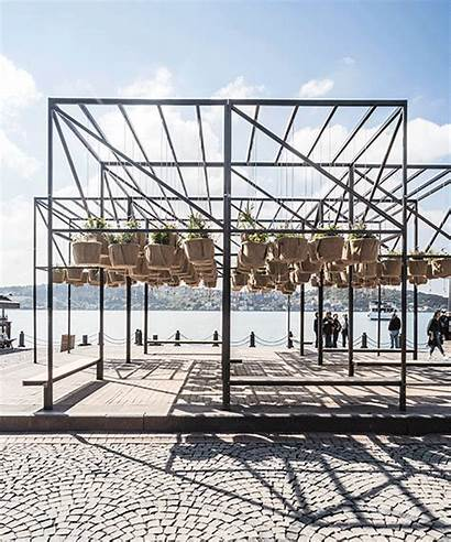 Architecture Sky Istanbul Garden Interactive Suspends Ortakoey