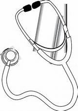 Stethoscope Svg Coloring Clip Becuo Credit Larger Arts sketch template