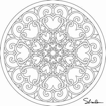 Coloring Pages Mandalas Valentine Heart Mandala Printable