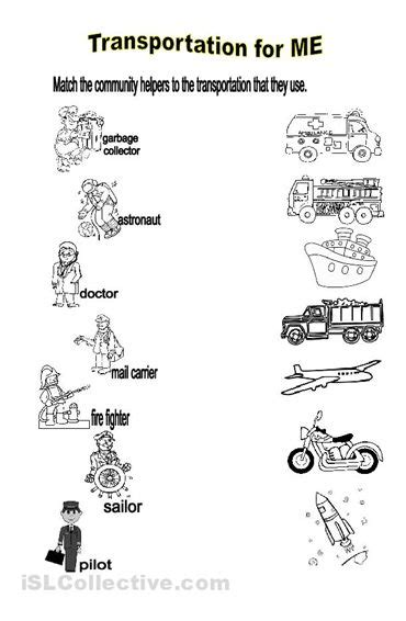 Will Identify The Transportation Used By Community Helpers  Preschool  Pinterest Community