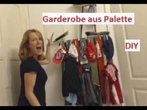 Garderobe Aus Palette : palettenm bel diy garderobe aus palette youtube ~ Frokenaadalensverden.com Haus und Dekorationen