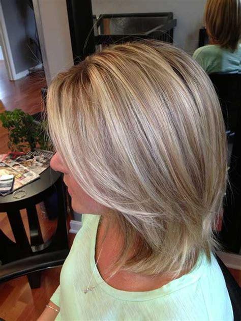 short blonde highlighted hair   short