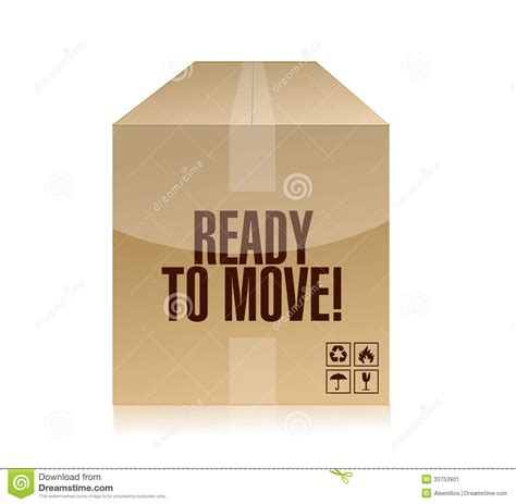 Ready To Move Box Illustration Design Stock Illustration  Illustration Of Real, Package 33753901