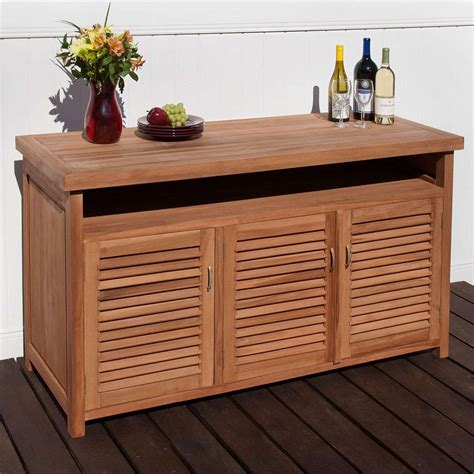 Outdoor Sideboard Cabinet by Teak Outdoor Cabinetry Outdoor Ideas