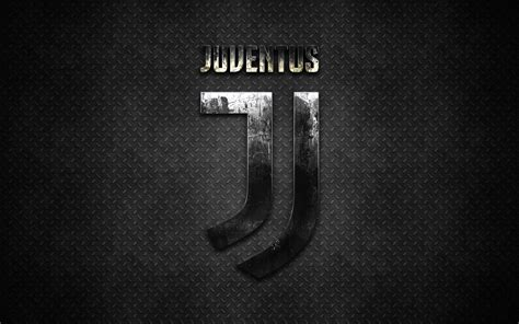 wallpapers juventus fc  logo metal texture