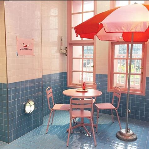 stylenanda pink pool cafe tempat instagramable  korea