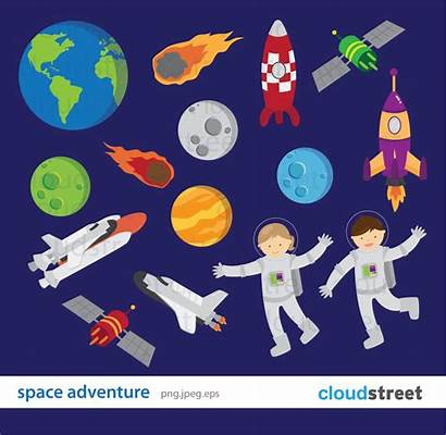 Space Clipart Clip Adventure Outer Astronaut Zoom