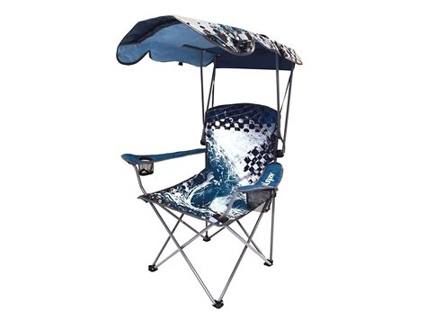 wave original canopy chair blue portable shade
