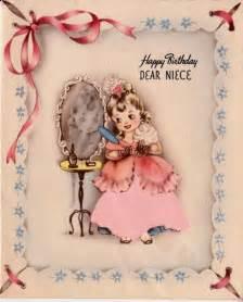 Vintage Happy Birthday Niece Card