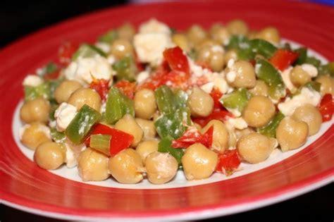 cuisine pois chiche salade de pois chiche aux poivrons cuisine ww plats