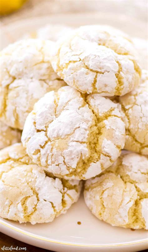 The pie that will make you feel like a million bucks. Cream Cheese Lemon Crinkle Cookies - A Latte Food