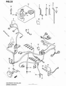 Suzuki Motorcycle 2001 Oem Parts Diagram For Wiring