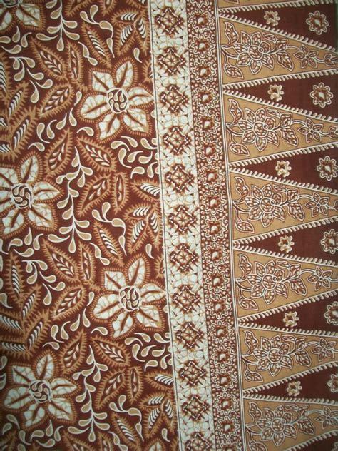 bahan kain batik cirebon warna coklat
