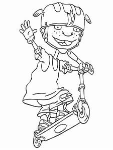 Kids N Funcom 74 Coloring Pages Of Rocket Power