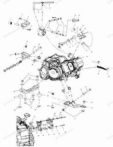 Polaris Atv 2000 Oem Parts Diagram For Engine Mounting