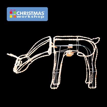 10m 3d moving grazing reindeer warm white