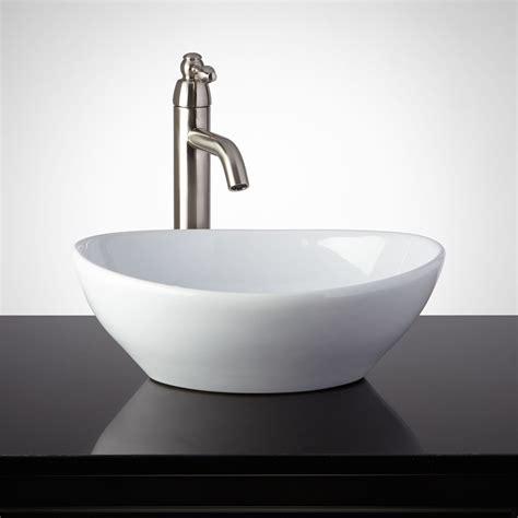 photos of vessel sinks cedrela porcelain vessel sink bathroom