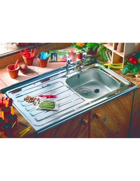 sit on kitchen sink sit on drainer single bowl sink stainless steel 5296