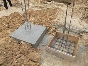 Komitu  Casting The Concrete Footings